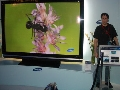 television: Showing off the new 102 inch LCD television!